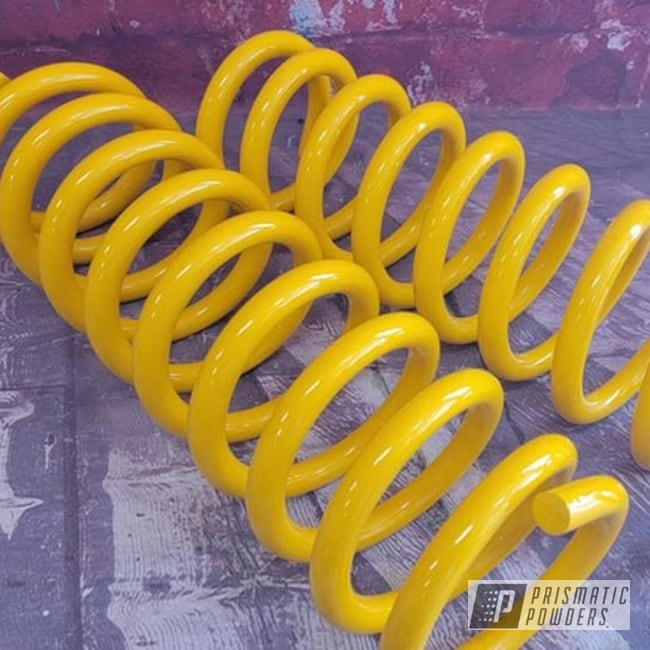 Powder Coating: Automotive,Suspension Parts,Coils,Springs,RAL 1018 ZincYellow,coil springs,Automotive Parts,Suspension
