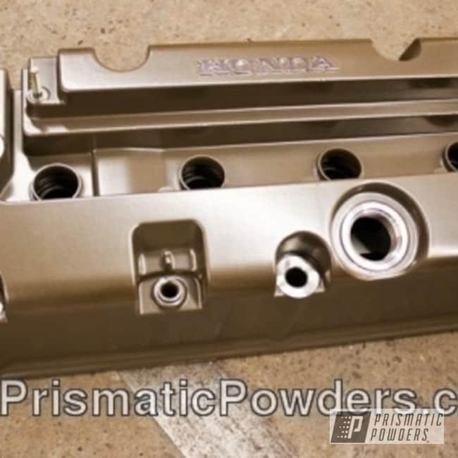 Powder Coating: Automotive,Honda,powder coated,bronze,Valve Cover,Brewer Bronze PMB-2176
