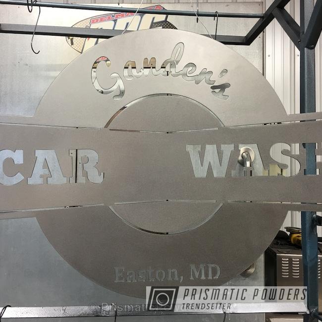 Powder Coating: MATTE CLEAR PPB-4509,Clear Coat Used,Brushed Metal,Custom Store Sign,Art,Matte Finish