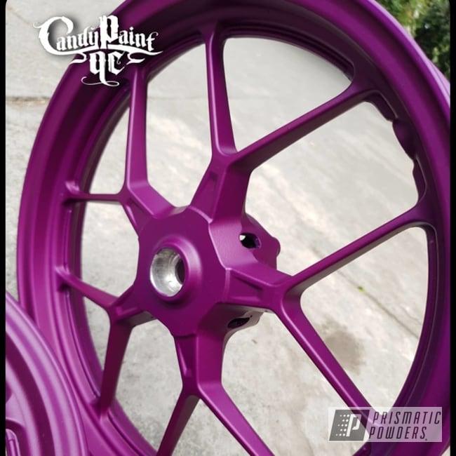 "Powder Coating: Illusion Purple PSB-4629,Wheels,Motorcycle Rims,Rims,15"" Aluminum Rims,Motorcycle Wheels,Casper Clear PPS-4005"