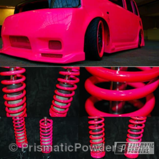 Powder Coating: Automotive,pink,Scion XB,powder coated,Corkey Pink PPS-5875
