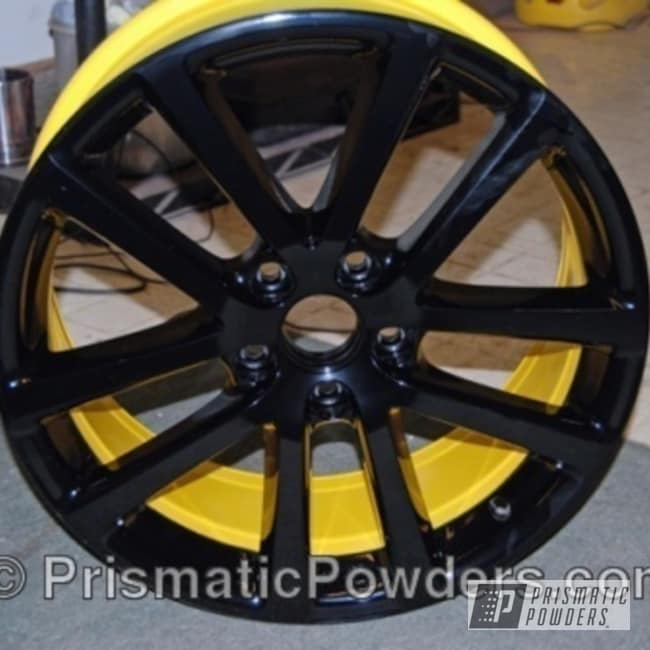 Powder Coating: Wheels,Wheel,Yellow,Black,Ink Black PSS-0106,powder coated,DAFFODIL YELLOW USS-1571