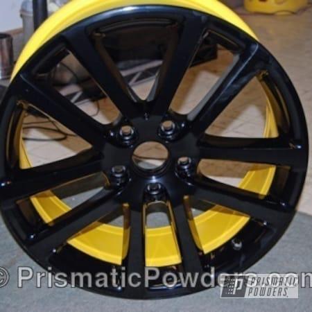 Powder Coating: Wheels,Yellow,Black,Ink Black PSS-0106,powder coated,DAFFODIL YELLOW USS-1571