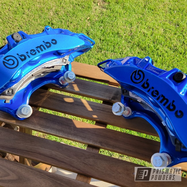 Powder Coating: Illusion Blue-Berg PMB-6910,Automotive,Calipers,CTS-V,Clear Vision PPS-2974,Brakes,Chevrolet,SS,Brembo Brake Calipers,Cadillac,Camaro