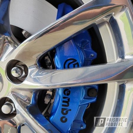 Powder Coating: Illusion Blue-Berg PMB-6910,Automotive,Calipers,CTS-V,Clear Vision PPS-2974,Brakes,Chevrolet,SS,Brembo Brake Calipers,Cadillac,Camaro