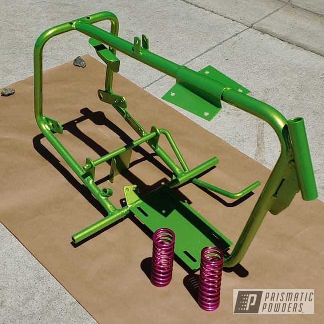 Powder Coating: Clear Vision PPS-2974,Illusion Pink PMB-10046,Springs,Illusion Sour Apple PMB-6913,coil springs