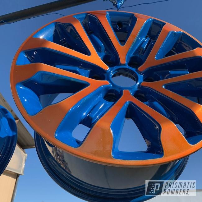 Powder Coating: Wheels,RAL 5010 Gentian Blue,Rims,Ford Raptor,Raptor,Ford Raptor Wheels,Two Tone,Ford,Trans Copper II PPS-2618