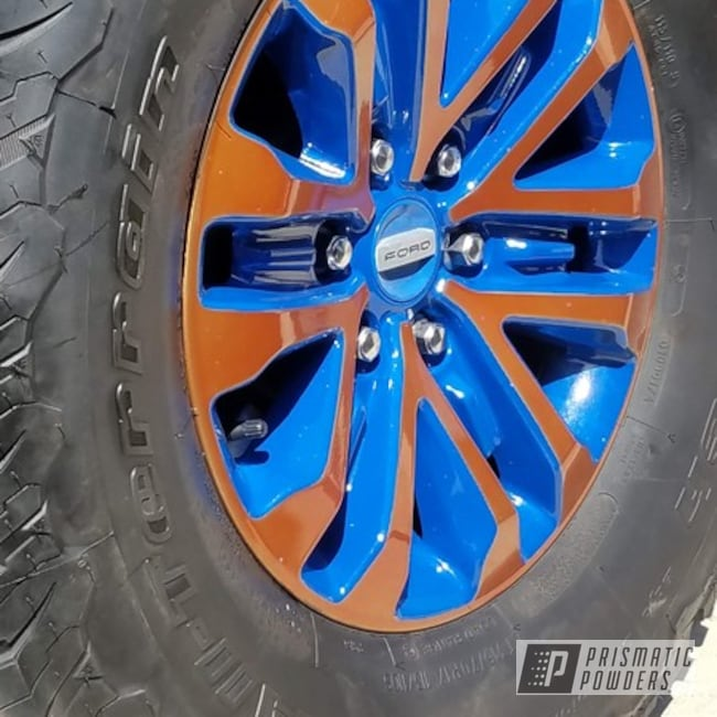 Powder Coated Two Tone Ford Raptor Wheels In Pps-2618 And Ral 5010