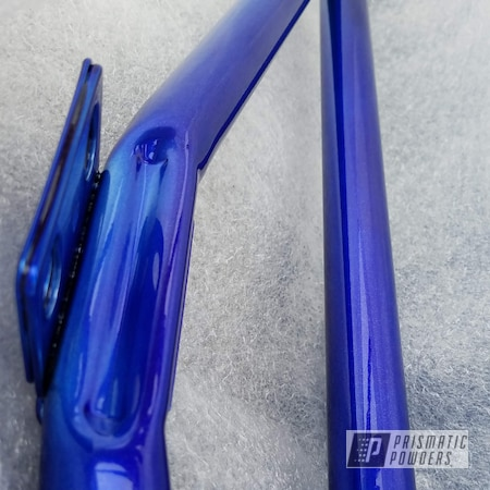 Powder Coating: POLISHED ALUMINUM HSS-2345,Two Stage Application,Applied Plastic Coatings,Dazzling Blue PPB-4329,Miscellaneous