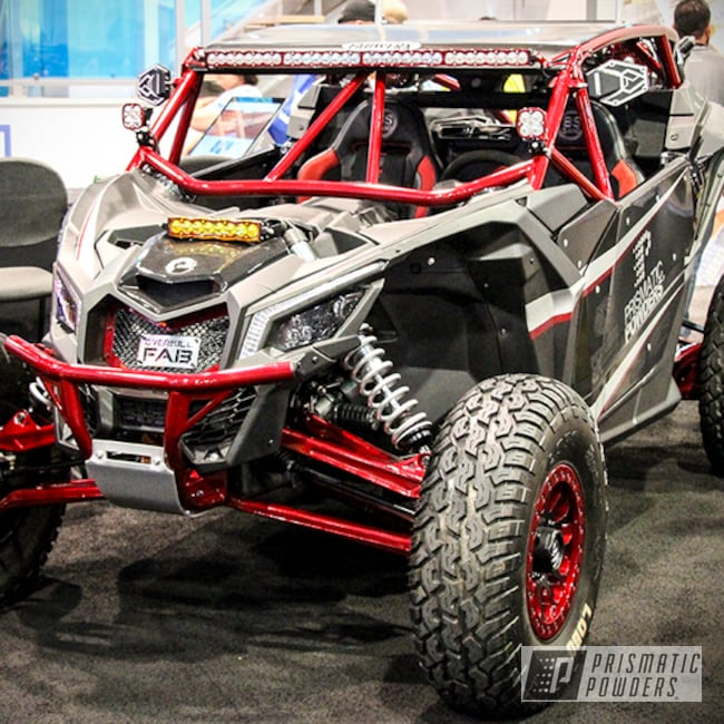 Powder Coating: Clear Vision PPS-2974,Off-Road,Powersports,Brian Bush,Can-Am Maverick,Custom Powder Coated Can-am Parts,Rancher Red PPB-6415,Can-am X3