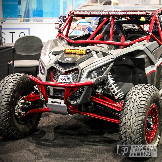 Powder Coating: Clear Vision PPS-2974,Off-Road,Can-am Maverick,Powersports,Brian Bush,Custom Powder Coated Can-am Parts,Rancher Red PPB-6415,Can-am X3