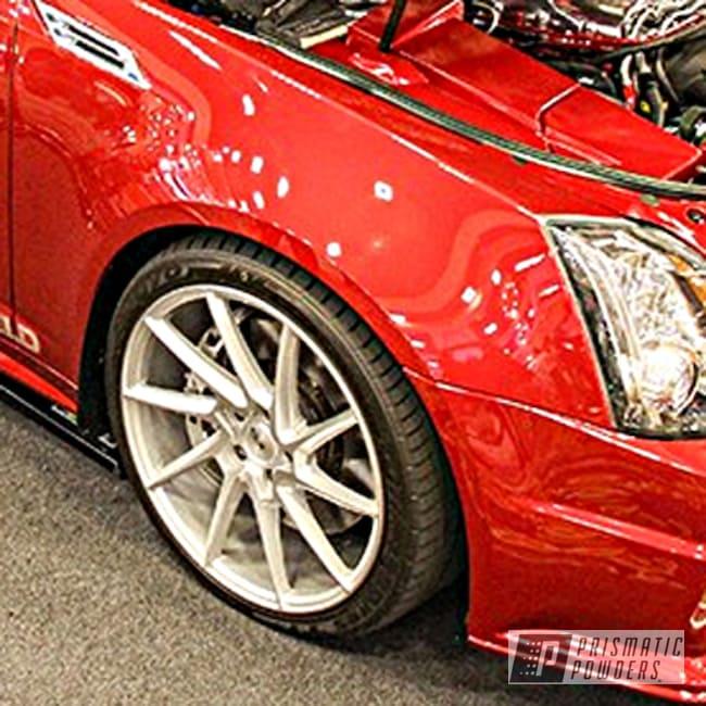 Powder Coating: Automotive,Cadillac CTS-V,Satin Silver PMS-1438,Brian Bush,Casper Clear PPS-4005,Cadillac