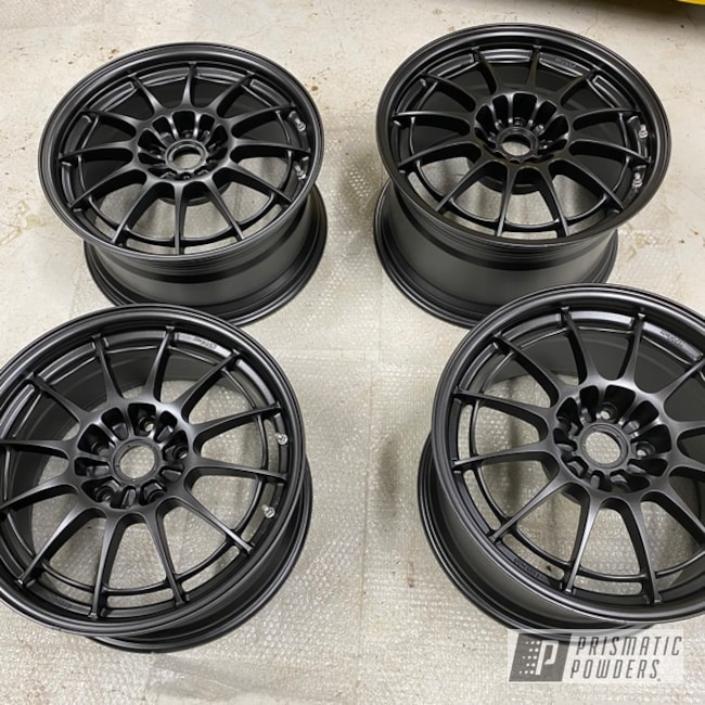 "Powder Coating: Wheels,Alloy Wheels,Graphite Charcoal PMB-5458,Rims,18"" Aluminum Rims"