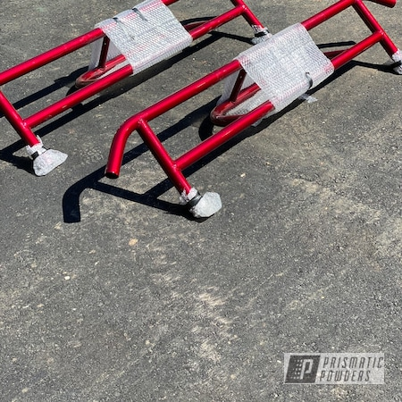 Powder Coating: Clear Vision PPS-2974,2 Stage Application,Illusion Cherry PMB-6905