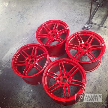 Koya Wheels In Astatic Red Powder Coating