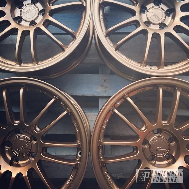 Powder Coating: Wheels,Automotive,Rims,Koya Wheels,Solid Tone,Highland Bronze PMB-5860