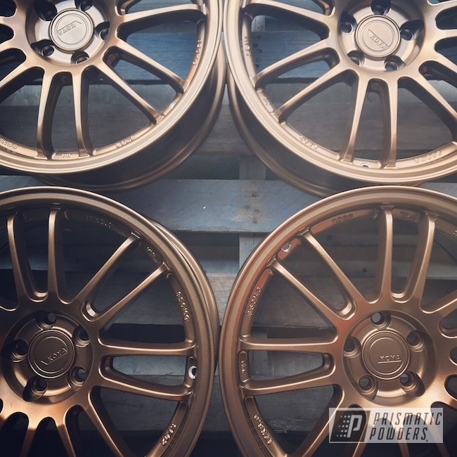 Powder Coating: Wheels,Automotive,Rims,Koya Wheels,Solid Tone,Highland Bronze PMB-5860