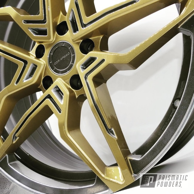 Powder Coated Two Tone Wheels In Pps-2974, Pmb-4911 And Hmb-4137