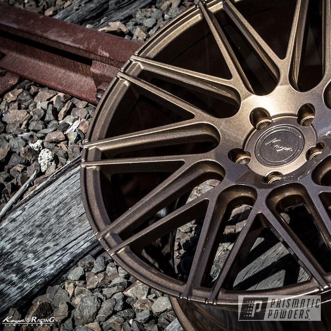 Powder Coating: Wheels,Automotive,Custom Wheels,Rims,Koya Wheels,Solid Tone,Gold Rubbed Bronze UMB-4469