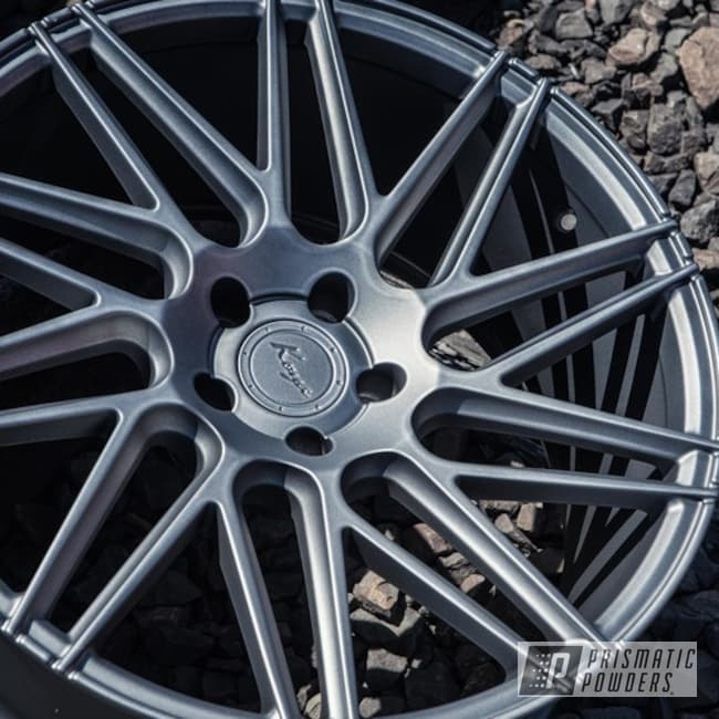 Powder Coating: Wheels,Matte Gravel Grey PSB-8165,Automotive,Rims,Koya Wheels,Solid Tone