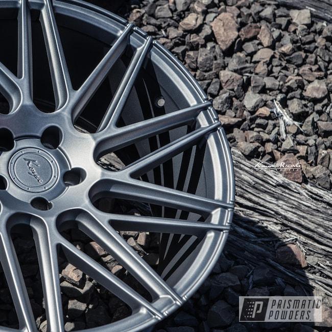 Powder Coating: Wheels,Matte Gravel Grey PSB-8165,Automotive,Rims,Koya Wheels,Solid Tone