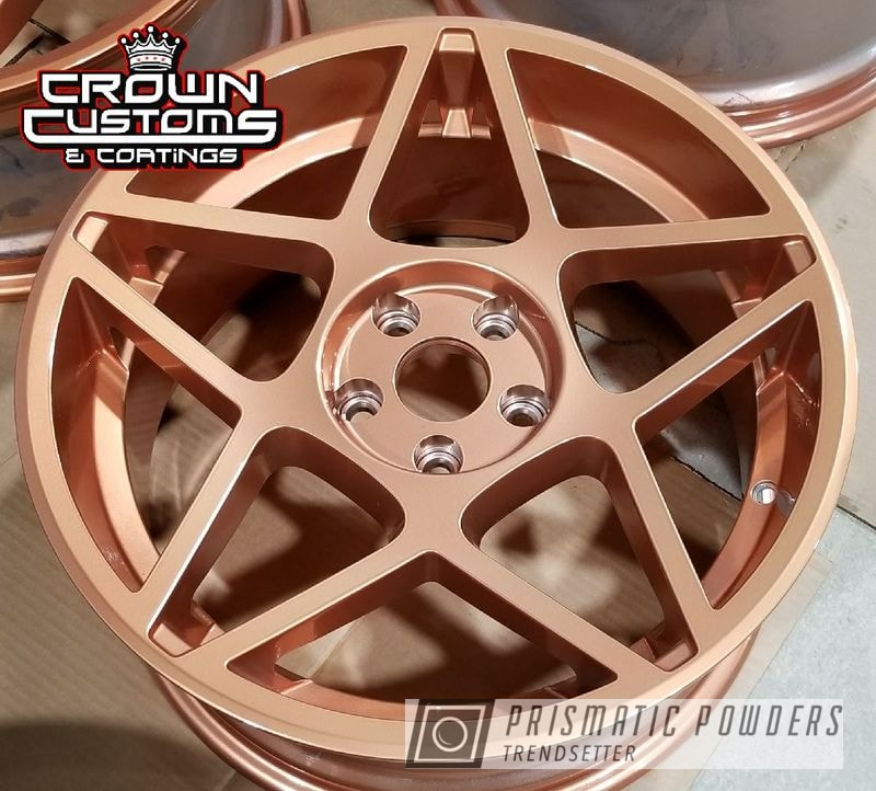 Custom Rims Powder Coated In Illusion Rose Gold With A Clear Vision Top Coat