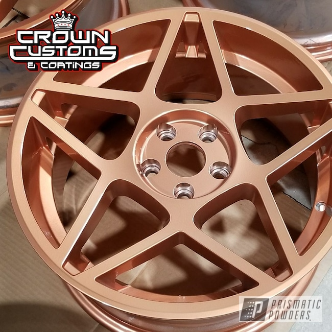 Powder Coating: Wheels,Automotive,Two Stage Powder Application,Clear Vision PPS-2974,Rims,Clear Top Coat,Solid Tone,ILLUSION ROSE GOLD - DISCONTINUED PMB-10047