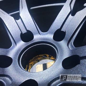Koya Wheels With A Textures Blue Cast Powder Coating