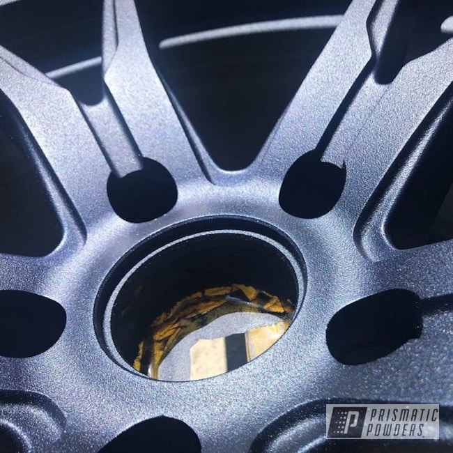 Powder Coating: Wheels,Automotive,Rims,Koya Wheels,Textured Finish,Blue Cast PCB-2446,Textured