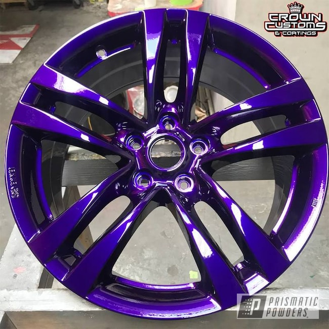 Custom Two Stage Rim in Illusion Purple and Clear Vision Powder Coating