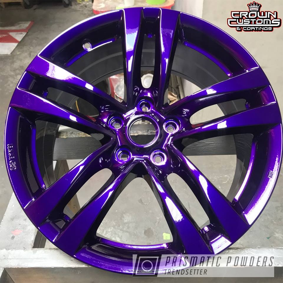 Powder Coating: Illusion Purple PSB-4629,Wheels,Automotive,Clear Vision PPS-2974,Two Stage Powder Coat Application,Clear Top Coat Applied
