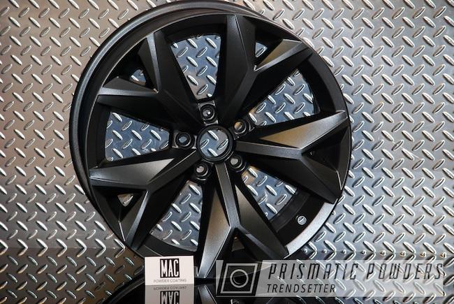 "Powder Coating: Wheels,Powder Coated Audi Wheels Mac Powder Coating,STERLING BLACK UMB-1204,Rims,17"" Aluminum Rims,Audi"