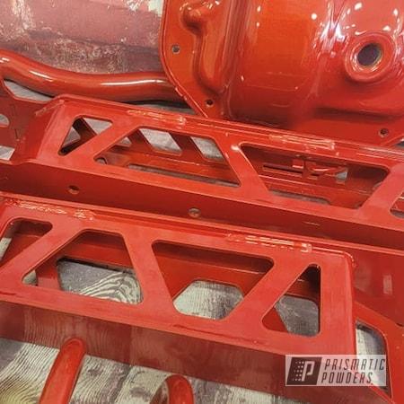 Powder Coating: Auto Parts,Automotive,Suspension Parts,Clear Vision PPS-2974,Illusion Red PMS-4515,Lift Kit,Automotive Parts,Suspension