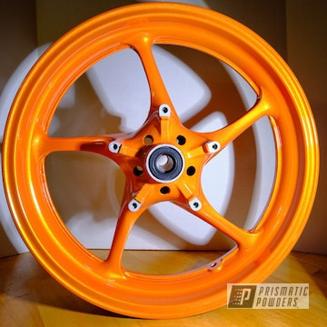 Powder Coated Yamaha Rims In Pps-2974 And Pms-4620
