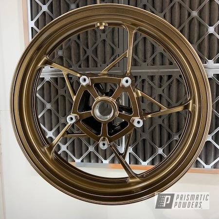 "Powder Coating: Wheels,Kawasaki,Motorcycle Rims,Rims,Bronze Chrome PMB-4124,15"" Aluminum Rims"