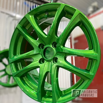 Powder Coated Wheels In Pps-2974 And Pmb-7025