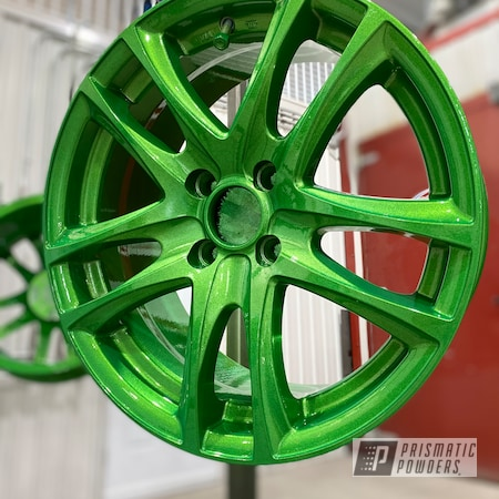 "Powder Coating: Wheels,Clear Vision PPS-2974,Rims,17"" Aluminum Rims,Illusion Green Ice PMB-7025,Illusions"