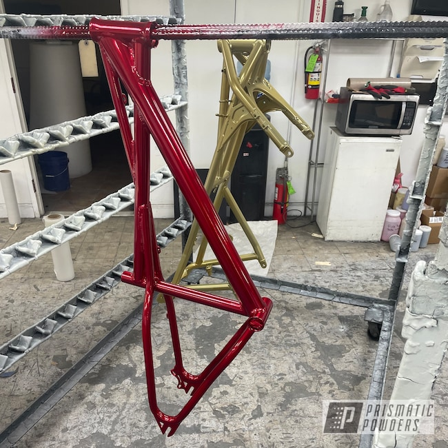 Powder Coating: DAZZLING RED UPB-1453,Bicycles,Bike Frame,Bicycle Frame