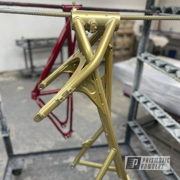 Powder Coated Motorcycle Frame In Ppb-6404