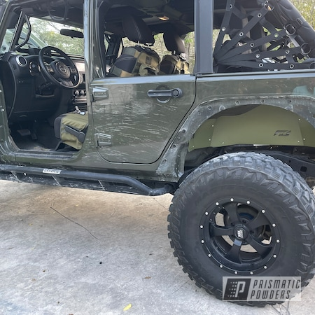 Powder Coating: Fenders,Automotive,Jeep Parts,fender,Jeep,Jeep Accessories,Army Green PSB-4944,Wrangler,Inner Fender,Automotive Parts