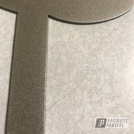 Powder Coating: Champagne Gold PMB-4782,Custom Signs,Metal Sign