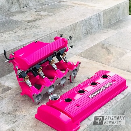 Powder Coating: Automotive,Valve Covers,Passion Pink PSS-4679,Accessories,Toyota,Valve Cover,Corolla,Automotive Parts