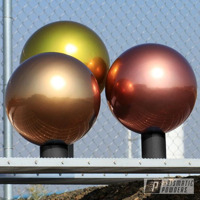 Powder Coating: orb,Clear Vision PPS-2974,Illusion Gold-(Discontinued) PMB-10045,Illusion True Copper - DISCONTINUED PMB-10044,gazing ball,Custom Garden Ornament,lawn ornament,Art,ornament,ILLUSION ROSE GOLD - DISCONTINUED PMB-10047