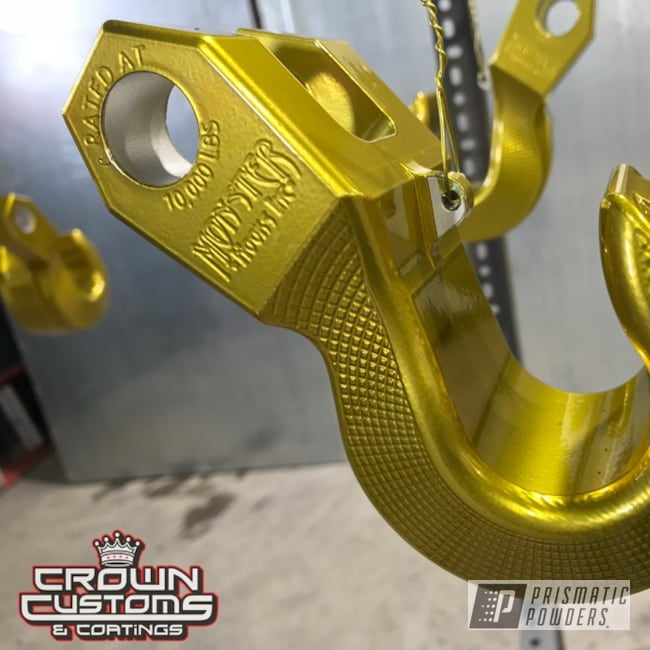 Powder Coating: Clear Vision PPS-2974,Monster Hook,Illusion Gold-(Discontinued) PMB-10045,powder coated,Gold,Tow Hook,Miscellaneous