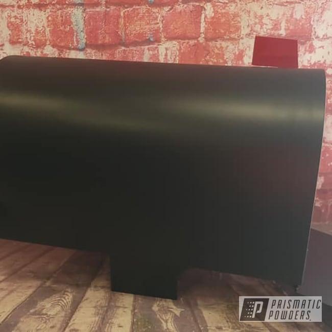 Powder Coating: BLACK JACK USS-1522,Outdoor Decor,RAL 3002 Carmine Red,Mailbox,Mail