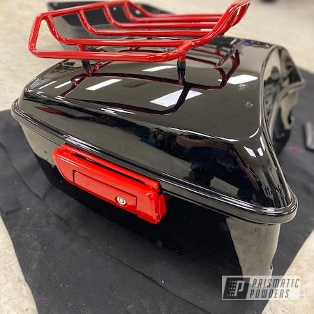 Powder Coating: Harley Davidson Parts,Harley Davidson,Firecracker Red PSB-6500,Motorcycle Parts,Honda Motorcycle,F6B,Accessories,Honda,Motorcycles,Rear Trunk,Trunk