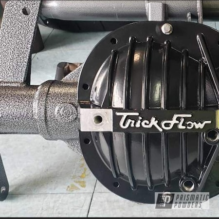 Powder Coating: Card Black PSS-1523,Automotive,diff cover,Rear Axle,Ford,Lightning,Silver Artery PVS-3014