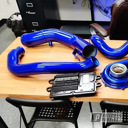 Powder Coating: Automotive,Clear Vision PPS-2974,Air Intake,Illusion Royal PMS-6925,Ford