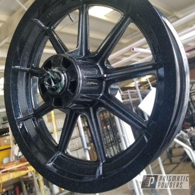 Powder Coating: Wheels,Silver Sparkle PPB-4727,Rims,Ink Black PSS-0106,Motorcycle Rim