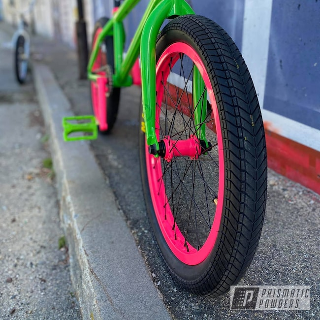 Powder Coating: Bicycles,Clear Vision PPS-2974,Custom Bicycle,BMX Bike,Bike,Custom BMX bike,Targa Green PSB-5790,Sassy PSS-3063,BMX